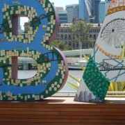 Polystyrene Brisbane Sign - G20 World Leaders Summit, Southbank, Brisbane