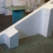 Polystyrene Concrete Void Form - Block out form for a concrete girder pour as part of a bridge spandrel in Western Queensland damged after floods