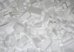 Polystyrene Packaging Chips Close Up
