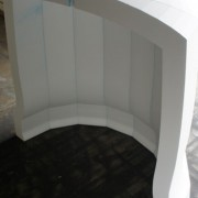Polystyrene Movie Prop - Basic form of Bell prior to paint and finishing sand down for textured result